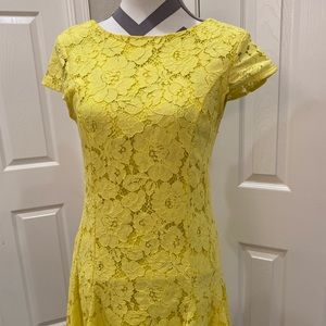 BOOHOO YELLOW LACE DRESS •Retail: ASOS